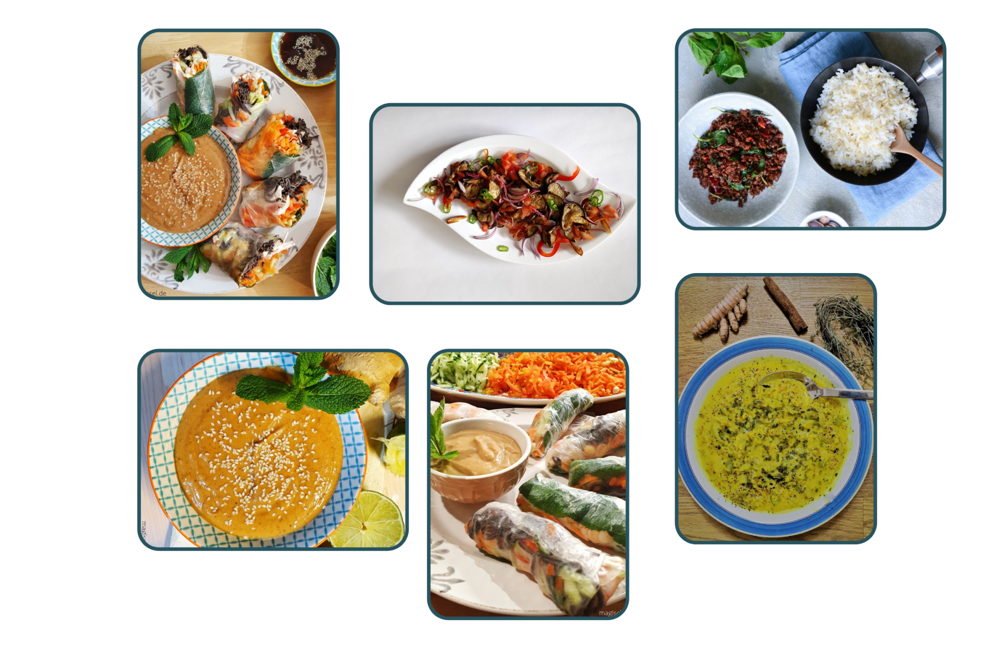 Collage von Kochkursen
