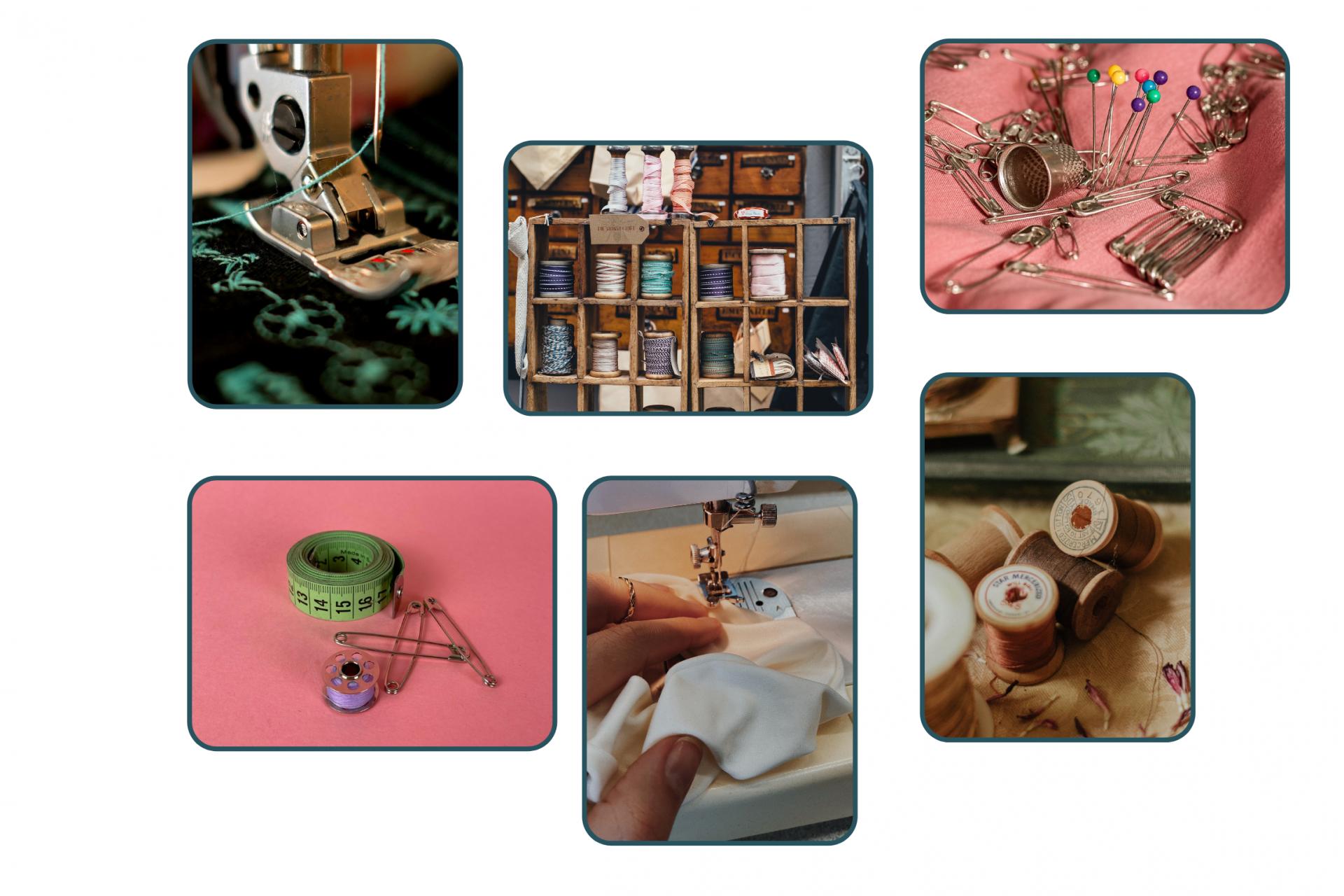 Collage für Online Nähkurse