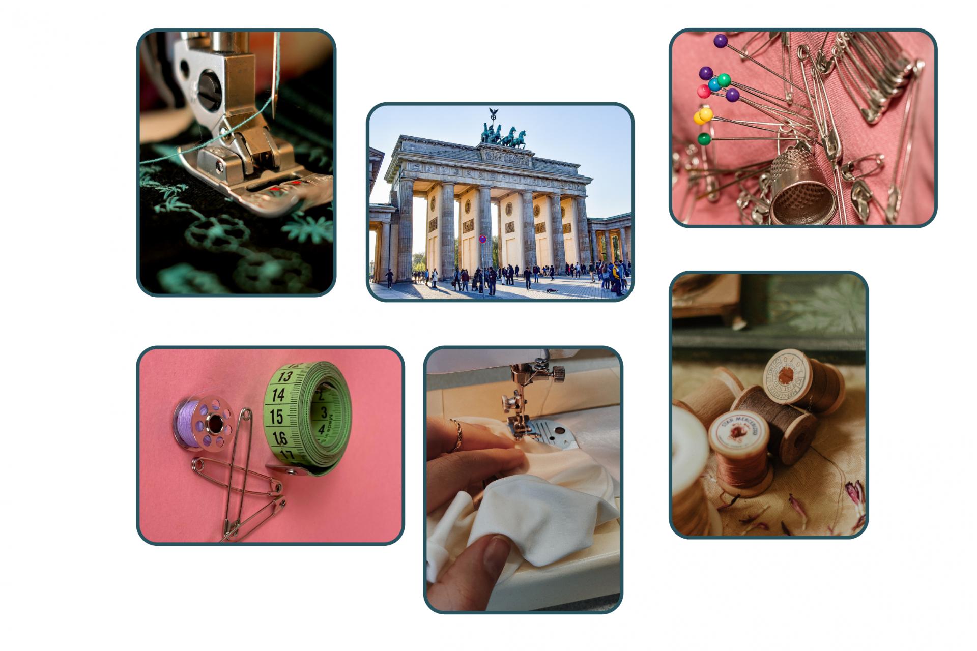 Collage von Nähkursen in Berlin