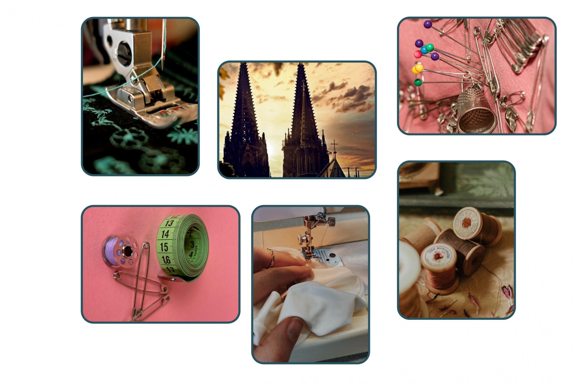 Collage von Nähkursen in Köln