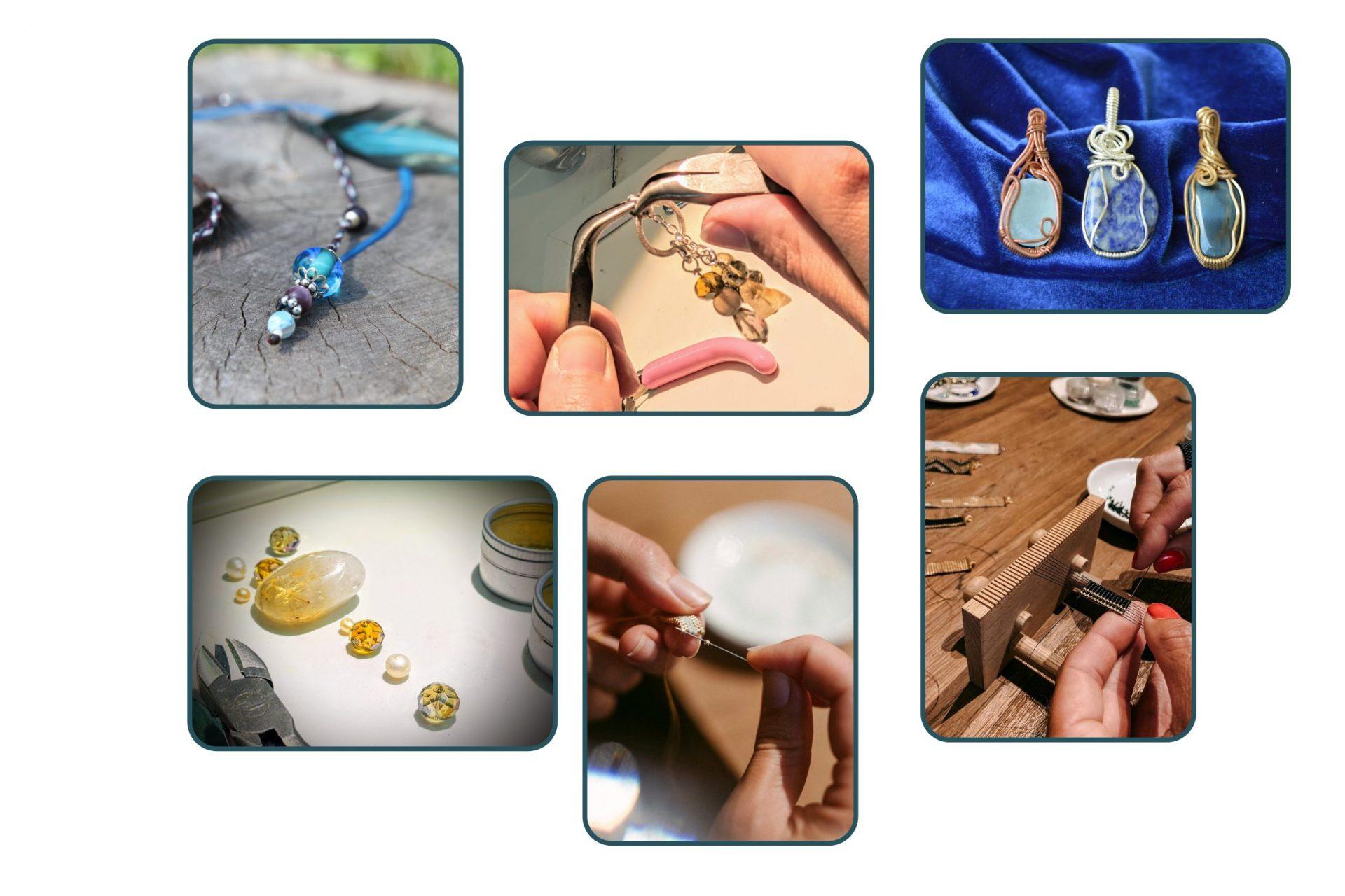 Collage von Schmuck Workshops