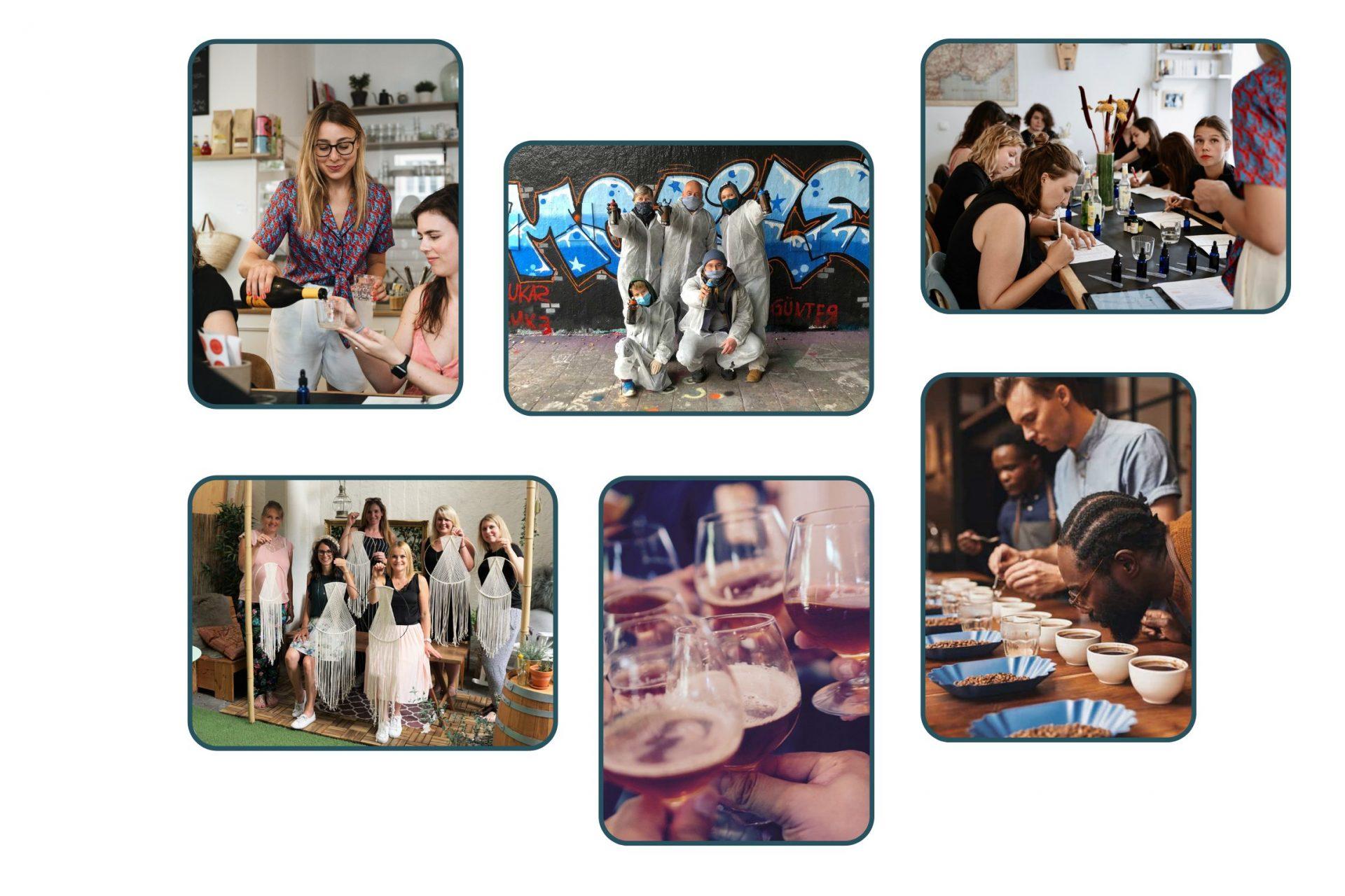 Collage von Gruppenevents