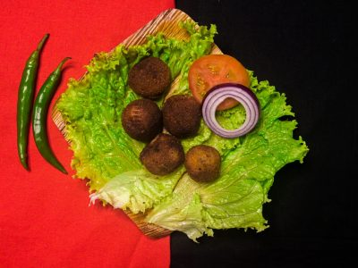 Gemüse und Nüsse
