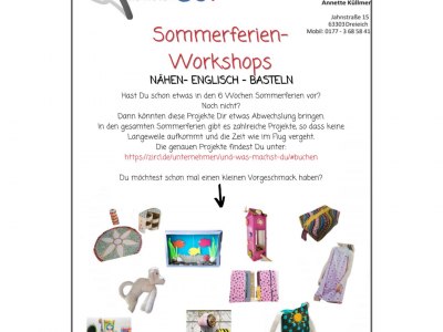 Flyer für Ferien Workshops in Frankfurt