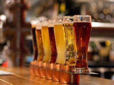 Verschiedene Biersorten im Glas
